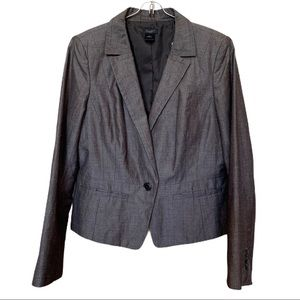Ann Taylor 2 Piece Brown Skirt & Blazer Suit